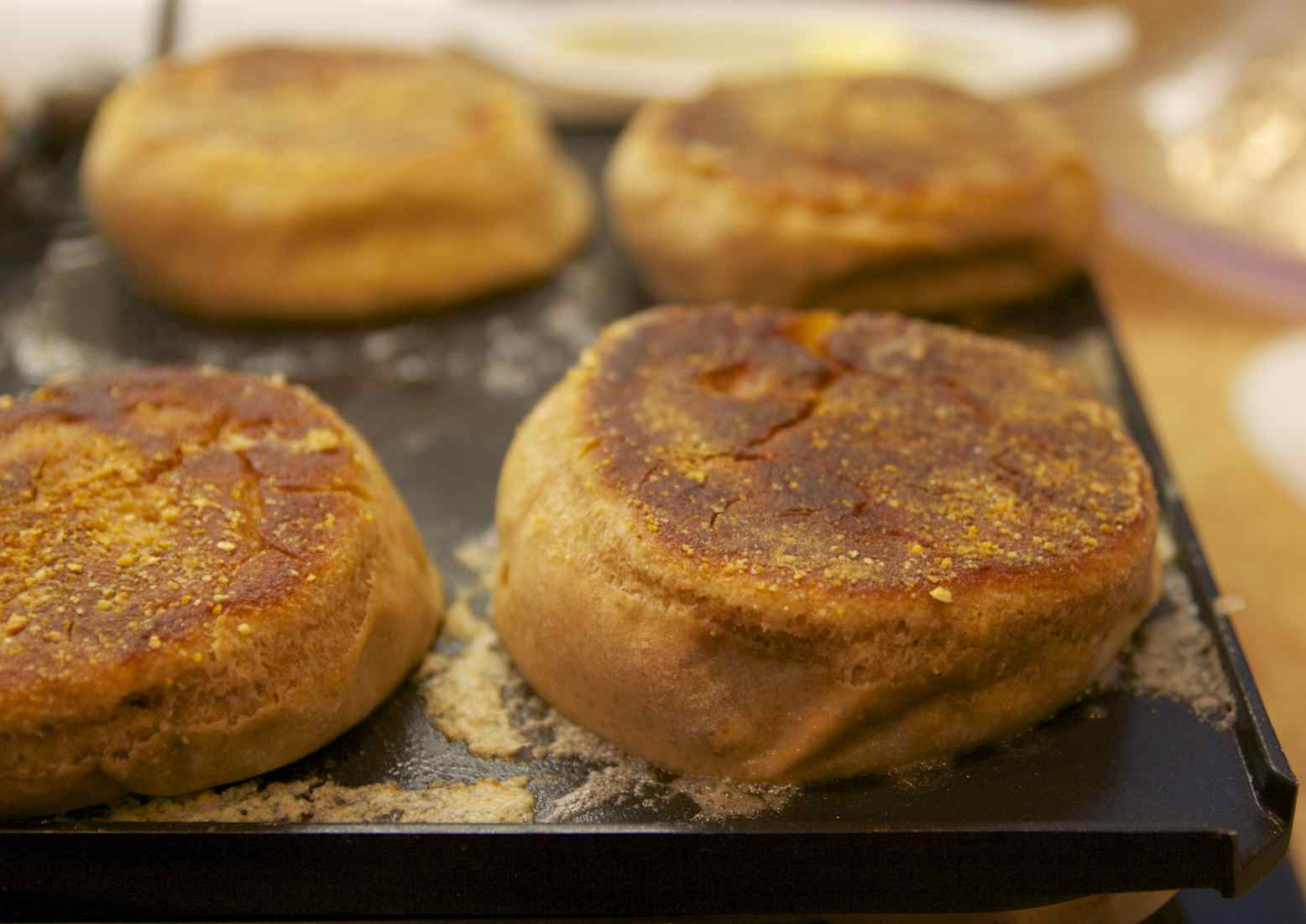 Miso-Rye English Muffins #Baketogether