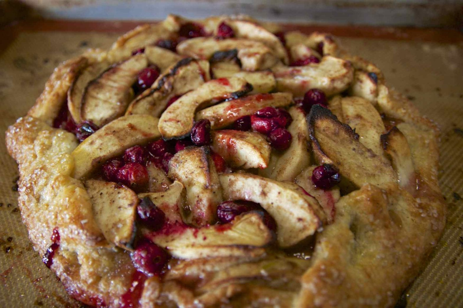 Apple Cranberry Crostata